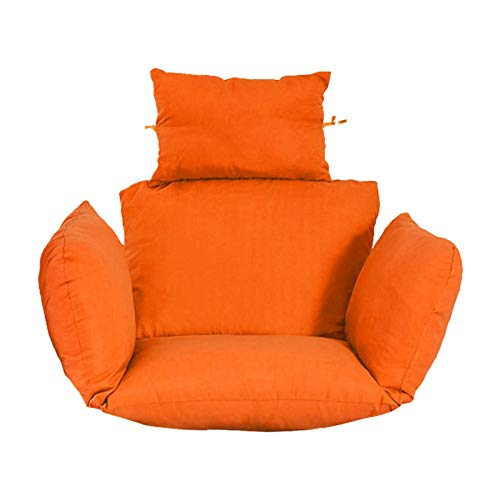 LyhomeO Removable Hanging Basket Cushion Swing Cushion Wicker Rattan Hanging Eggshell Chair Cushion Cradle Cushion (only Hair Cushion)