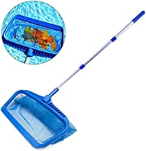 Kansang Skimmers - Red de aterrizaje para piscina con varillas, redes de piscina, kit de mantenimiento de piscina retráctil de aluminio para spas y piscinas