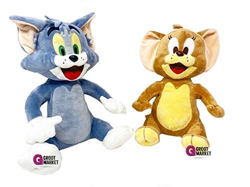 Lorenay Tom & Jerry - Set in Peluche con Gatto (27 cm) e Topo (25 cm)