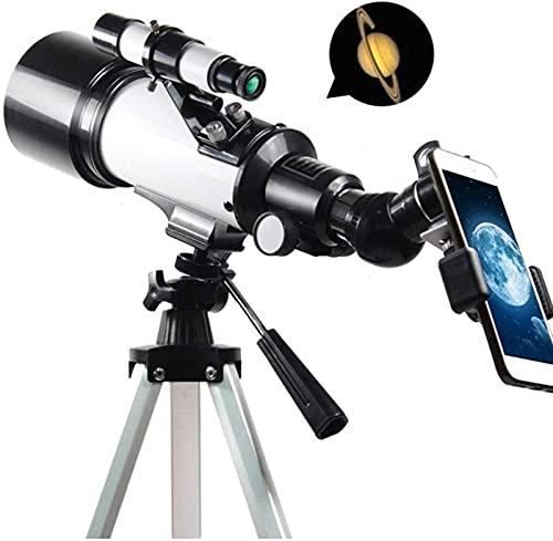 HaoLi Telescopio astronómico Zoom 120X HD Telescopio Espacial monocular de Ciencia educativa con trípode Alcance de detección de 70 mm para niños Principiantes