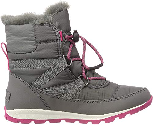Sorel Youth Whitney Short Lace, Botas Unisex Niños, Gris (Quarry, Ultra Pink 053), 38 EU