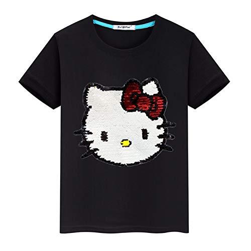 Lee little Angel Chicas Personalizadas Flash Camiseta de lenteen mágicas (Adecuado para 3-12 años de Edad) (110 (3-4 años de Edad), HLKT5)