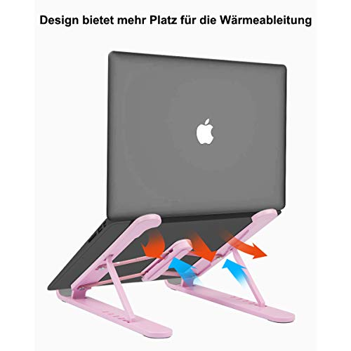 Evershop Laptop Tablet Ständer,Notebook Ständer Tragbarer Faltbar Höhenverstellbar,Laptop Halterung Kompatibel Für MacBook Pro/Air HP Dell Lenovo Samsung Acer Huawei Alle 10-15.6 Zoll Notebooks