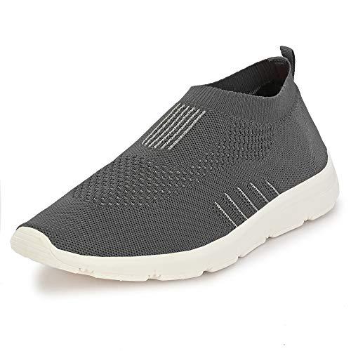 Bourge Men's Vega-6 Grey Running Shoes-8 UK (42 EU) (9 US) (Vega-6-08)