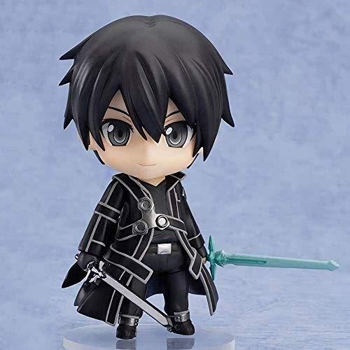 YIGEYI Sword Art Online Sao Kirito Nendoroid del Anime Figura de acción del PVC de colección Modelo de Caracteres Estatua Juguetes de Escritorio Adornos