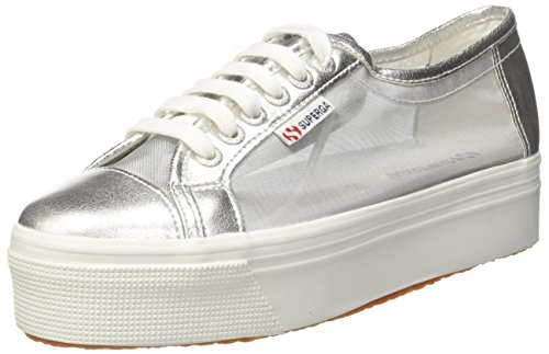 Superga 2790 Netw, Unisex Erwachsene Platform sneakers, silber, 41 EU