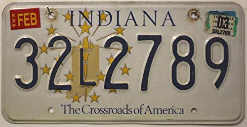 USA Nummernschild INDIANA ~ US Kennzeichen License Plate ~ Metallschild