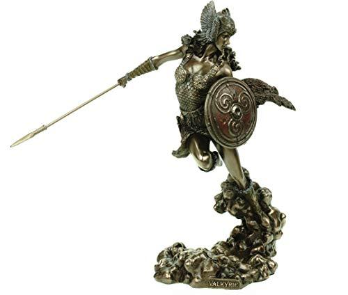 Veronese Figur germanische Walküre bronziert 24 cm Odin Skulptur Geistwesen