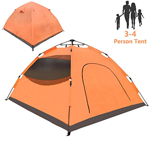 LETHMIK Pop Up Tent, Tents for Camping 2 3 4 Person - 30 Seconds Easy Up Camping Tent, Waterproof Instant Backpacking Tent for Outdoor Hiking, Climbing, Travel - Includes Carry Bag