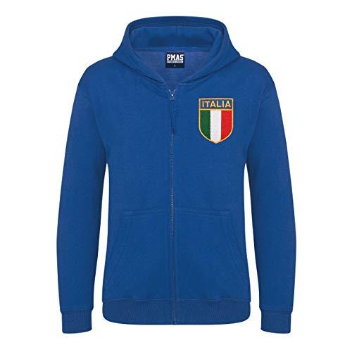 ENFANTS rétro Italia Rugby à Capuche Zippé - - Medium/ 76 cm