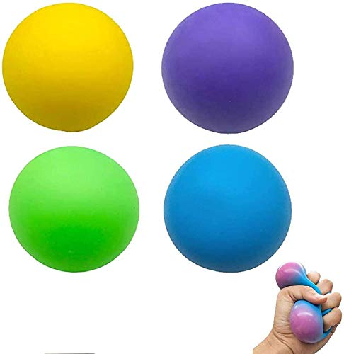 Stress Balls, Sensory Stress Relief Squeeze Ball Toys for Kids and Adults, 8 Pack Fidget Balls, Soft Stretchy Toy Set for Autism Calming, Anxiety Relief, ADHD Party Favor Decoration