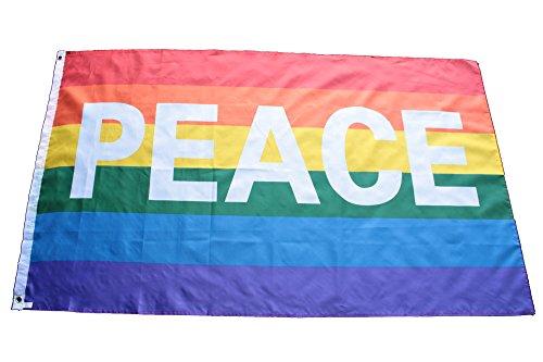 Flagge Peace ,Fahne Frieden, Fahne Peace 150x90cm mit Ösen
