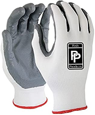 Unisex Gardening Gloves | 3 Pack Work Gloves for Men and Women with Protective Nitrile Coating, Durable, Machine Washable, Me