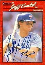 Autograph Warehouse 48879 Jeff Kunkel Autographed Baseball Card Texas Rangers 1990 Donruss No .496
