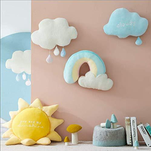 Lovely Plush Sun Pillows Sleeping Rainbow Cushion Cot Decor Soft Plush Birthday Gift Kids Toy 1Pc (Rainbow) 43Cm*34Cm*8Cm