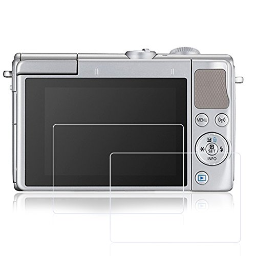 AFUNTA Protectores de Pantalla para Canon EOS M6 M100, 2 Paquetes películas Protectoras de Vidrio Templado antiarañazos para cámara Digital DSLR