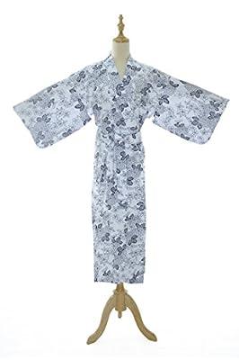 WT Kimono Spa Robe [Japanese Ryokan Yukata nightgown] Cotton Bathrobe Gift
