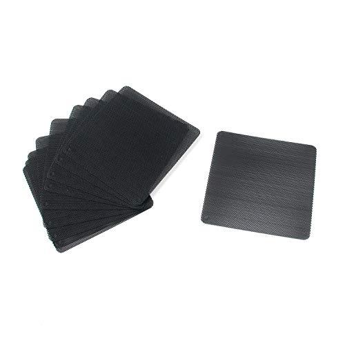 Karcy - Filtro de Polvo de PVC para Ventilador de Ordenador, Color Negro