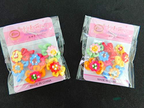 Lot de 2 nœuds en forme de fleurs Schmuckanthony Lot de 12 paires de barrettes à cheveux pour enfant