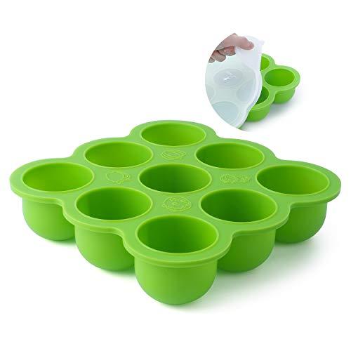 FUTURE FOUNDER Silikon Babynahrung Aufbewahrung Behälter Zum Muttermilch Einfrieren Babybrei mit Silikondeckel - BPA-frei, Gratis Gebrauchsanweisung mit Rezepten und Ernährungstipps