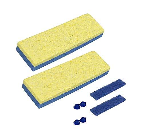 "Quickie Sponge Mop Refill 3 "" X 9 "" type S (2 Packs)"