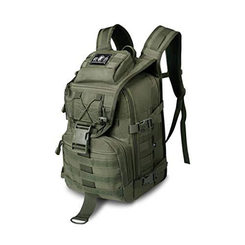 KPSRB 戦術的なバックパック、男性専門のショルダーバックパックアウトドア、旅行ハイキングタクティカルバッグ、ブラック-40L トラベルバックパック (Color : Green)