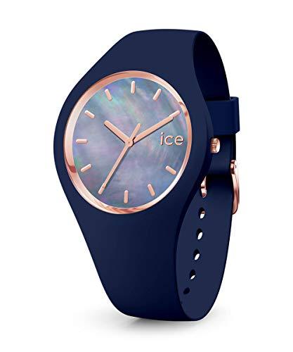 Ice-Watch - ICE pearl Twilight - Blaue Damenuhr mit Silikonarmband - 016940 (Small)