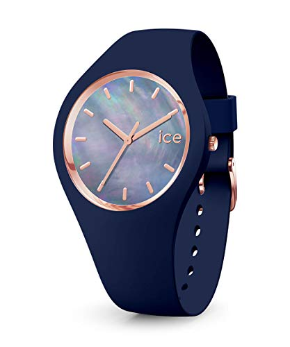 Ice-Watch - ICE pearl Twilight - Blaue Damenuhr mit Silikonarmband - 016940 (Small)