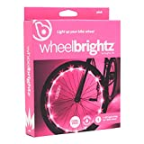 Wheelbrightz LED Bike Wheel Lights, Pink – Pack of 2 Lights for Front and Back Tires – Bright Colorful Light for Bicycles – Have Fun – Be Seen – Weather Resistant Tube with Battery Pack