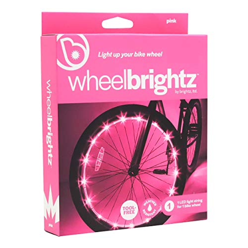 Wheelbrightz LED Bicycle Wheel Lights, Pink – for 1 Wheel – Bright, Colorful Light for Bikes – Fits...