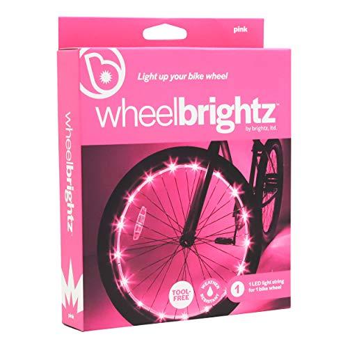 WheelBrightz LED Bicycle Wheel Lights, Pink – for 1 Wheel –...