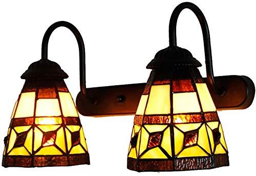 DALUXE Europea lámpara Tiffany Estilo Retro, Ventanas Mano Abat, Sala de Estar lámpara de Pared del Pasillo balcón, iluminación Interior,Segundo