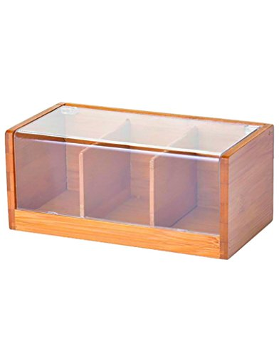 Caja para infusiones de bambú/pvc 22x11x9.5