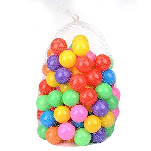 Westars 100pcs Bolas Colores De Plástico, Bolas De Colores para Niños, Bolas De Piscina para Niños, Bolas De Colores, Pelotas Natación para Niños Piscina,