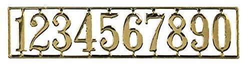 Houseworks, Ltd. Maison De Poupées Miniature Porte Meubles Plaqué Or Laiton Numéros De Maison Ensemble