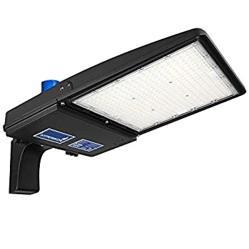 Hyperikon 300W LED Parking Lot Lights with Photocell LED Shoebox Pole Street Light 100-277V 5700K Photocell DLC ETL 300 Watts