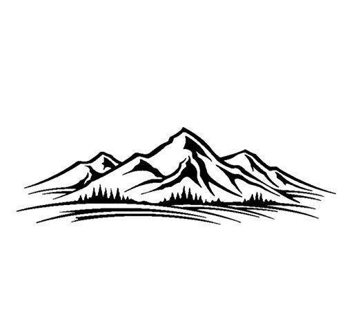 Pegatinas de calcomanías para automóviles En la montaña llena de baches y...