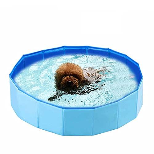 Decdeal Faltbarer Hundepool Planschbecken Hundebadewanne Swimmingpool für Hunde Blau Größe Optional