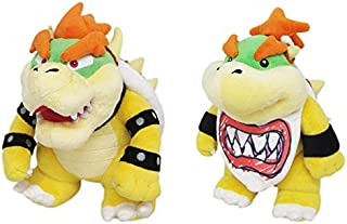 Little Buddy Super Mario All Star 1423 Bowser & 1424 Bowser Jr. (Set of 2) Stuffed Plushes