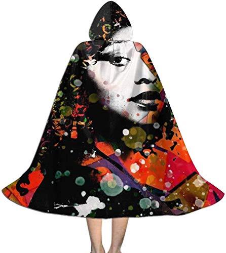 Romance-and-Beauty Capa para nios con Capucha, Negro, Pelo Natural, nia, Arte Afro, Unisex, de Cuerpo Entero, con Capucha, Capa, Capa Larga, Disfraz de Cosplay