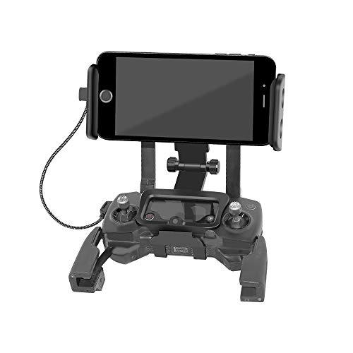 RC GearPro Foldable 4.6-11 Pulgadas Adaptador de Soporte Frontal extendido para Tableta/teléfono para dji Mavic 2 Pro y Control Remoto Spark Drone, Correa de Cuello Libre