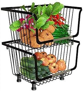 SMOOTHLY Boîte De Rangement Autoportante en Métal pour Légumes Et Fruits pour Casiers À Café De Cuisine Et De Restaurant (...