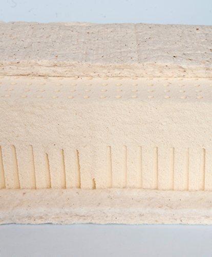 Asa Matratzen Prima I Matelas : 100% Latex Naturel 16 cm 85 kg/Housse : Coton Bio Naturel avec Laine Vierge 500 g surpiqué/env. 18 cm de Hauteur