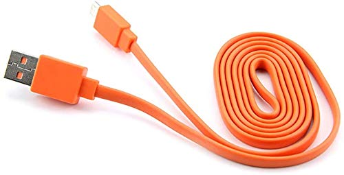 Red Flat Charging Power Cable Cord for JBL Charge 2 3, Flip 2 3 4, Pulse 2 Go, Clip Plus, Micro II, Trip, Charge 2 Plus Speakers UE Booms (NOT for Newer JBL Models)