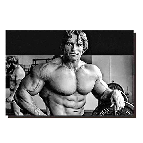 NRRTBWDHL Arnold Schwarzenegger - Bodybuilder Art Silk Poster Bilder Dekoration Druck LeinwandIndividuellesGeschenkDruck auf Leinwand-50x75cm Ohne Rahmen