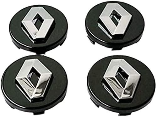 4pcs Coche eje de la rueda Tapas centrales para Koleos Duster Megane 57mm, a Prueba de Polvo Decorativa Accesorios De Estilo