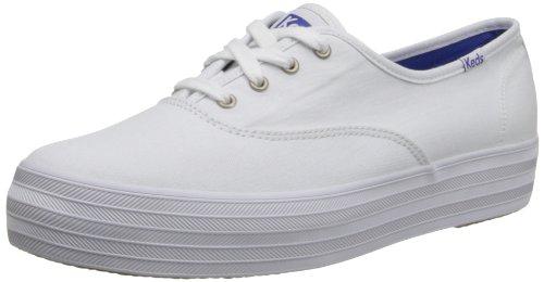 Keds Women's Triple CVO Sneaker, White, 7.5