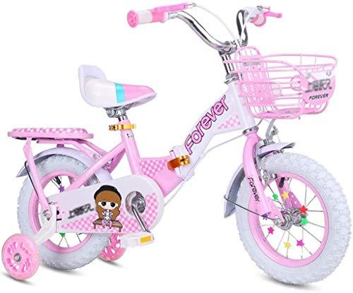 Xiaoyue Geeignete Fahrräder Rosa Fahrrad for Mädchen im Freien Mountainbike for Mädchen Indoor Heimtrainer for Mädchen-Übungs-Fahrrad for Kinder Kinder-Faltrad Pedal Pedal lalay