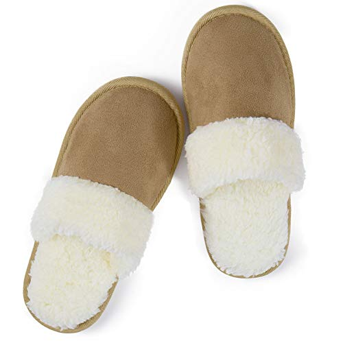 riemot Zapatillas de Estar por Casa para Mujer Hombre, Zapatos Memory Algodón Invierno Antideslizante Pantuflas, Cálidas, Ultraligero Cómodo y Suave, para Interior y Exterior, LB 46-47