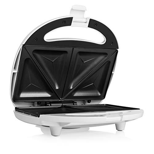 Tristar Sandwich-Maker mit Antihaftbeschichtung, 750 Watt, für 2 Sandwichtoasts pro Vorgang, SA-3052, weiß